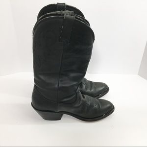 Durango Leather Boot Black Size 6 Cowgirl Western